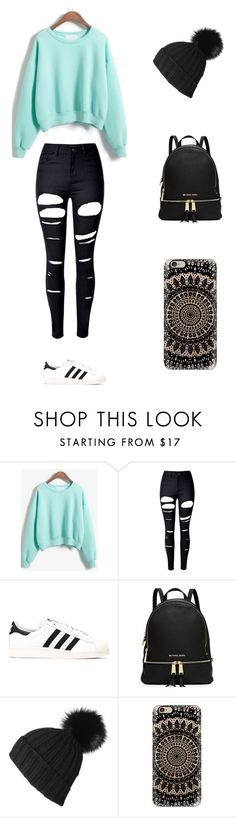 """Sin título #239"" by karenrodriguez-iv on Polyvore featuring moda, WithChic, adidas Originals, Black y Casetify"