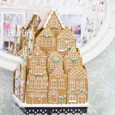 This one of a kind piece is gorgeous and makes our shop smell like delicious gingerbread! Almost reminds us of the Grand Budapest Hotel!