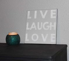 Live Laugh Love Sign 12x12 Sign Handpainted by PureImpressionsHome, $29.00