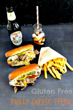 #Glutenfree Philly Cheese Steak Sandwich