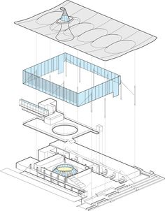 Axonometric Drawing On Pinterest National Assembly For