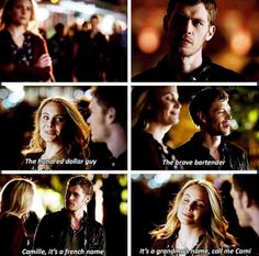 The Originals: Klaus and Camille | I ship Klaroline but them I see #Klamille and get stuck in between