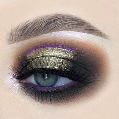 "alicekingmakeup: ""Holiday season glam with a pop of purple"" Bh Cosmetics, Pink Lemonade, Eyeshadow Looks, Makeup Inspiration, Eye Makeup, Lashes, Alice, Make Up, Seasons"