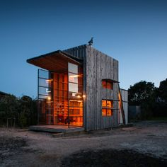 """Hut on Sleds by Crosson Clarke Carnachan """"This beach hut takes beach bum to the next level! Not only does it accommodate five people with a mere 40sqm footprint, but its sleds mean it can be moved to enjoy a different view every day!"""" features and online editor Nadine Botha exclaims. VISI / Articles / Picks of the Week"""