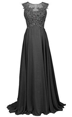 LongYan Women's Applique Chiffon Bridesmaid Dress Custom Gray 6 LongYan http://www.amazon.com/dp/B00YGZTCFE/ref=cm_sw_r_pi_dp_4n7Bwb0H30ADY