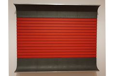 Untitled, cadmium red light oil and black on wood with galvanised iron and aluminum, 193 x x cm pic by Moma Collection, Contemporary Art, Nyc, Iron, Black, Home Decor, Museums, Decoration Home, Black People