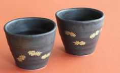 金魚の黒カップ - Miu's Porcelain