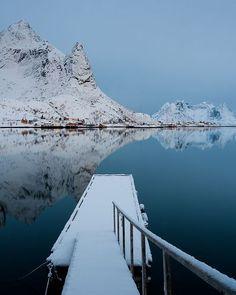 At the Lofoten Islands in Norway.