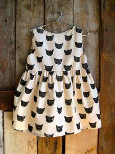 Black Cat Print Dress