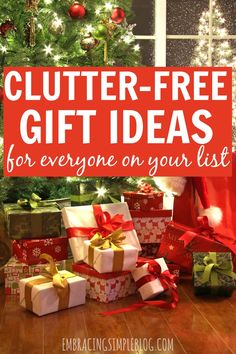 Tired of giving the same old gifts that just end up as clutter around the recipient's home? Don't miss the ultimate clutter-free gift guide for awesome gift ideas that you will be proud to give! This guide includes gifts for everyone on your list - women, men, babies, toddlers, children, and teenagers. It's a must-read!