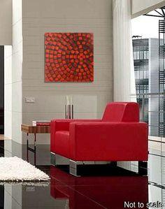 60 x 60 Astratto Dipinto in acrilico strutturato Deco pittura
