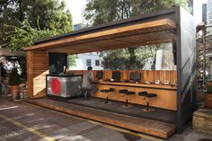 Gallery - Bogota Tourist Information Spots / Juan Melo + Camilo Delgadillo - 1 Kiosk Design, Cafe Design, Booth Design, Retail Design, House Design, Container Shop, Container Design, Container Restaurant, Container Architecture