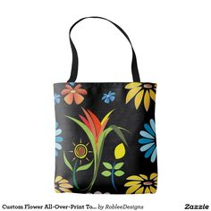 Custom Flower All-Over-Print Tote Bag $21.10 #fashion #bags #women #shopping
