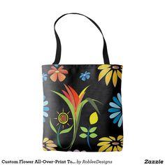 Custom Flower All-Over-Print Tote Bag $21.10 #fashion #bags #women #shopping