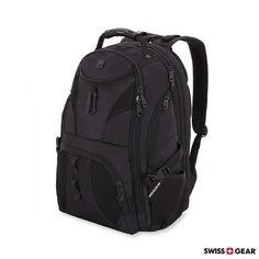 SWISSGEAR Travel Gear 1900 Scansmart TSA Laptop Backpack Black Black -  Exellent quality and price. 32e17cd38d9ca