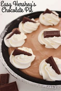 This Super Easy Hershey's Chocolate Pie is the easiest pie on the planet. With just three ingredients and a couple minutes of time, you can have yourself one amazing pie made. Easy Hershey's Chocolate Pie Quick and easy no bake desserts are the best. My grandmother was always one for whipping up the simplest of...Read More