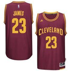 LeBron James Cleveland Cavaliers Adidas Swingman Road Jersey James Lebron bf5815be5