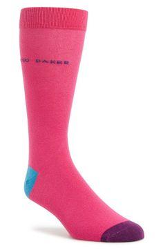 Men's Ted Baker London Colorblock Socks - Pink