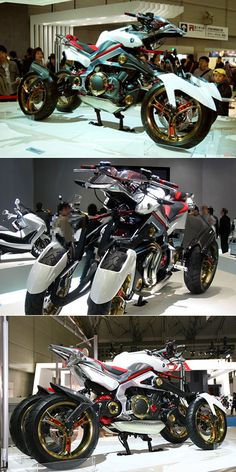 Another Look at the Yamaha Tesseract, the Futuristic 4-Wheeled Hybrid Motorcycle - TechEBlog
