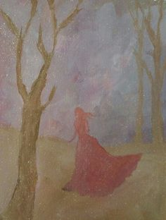 Donna's mixed media sketchbook acrylic wandering girl with glitter