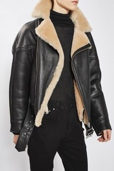 Shearling Aviator Jacket by Boutique
