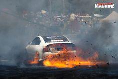 FEAR Monaro burnout fire Summernats 29