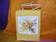 Paper Gift Bag  Yellow Coreopsis by TheGiftoftheGAB on Etsy, $5.00