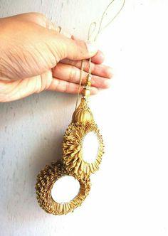 Diy Tassel, Tassel Jewelry, Gota Patti Jewellery, Thread Jewellery, Diy Mirror, Mirror Hanging, Saree Tassels, Back Neck Designs, Blouse Designs