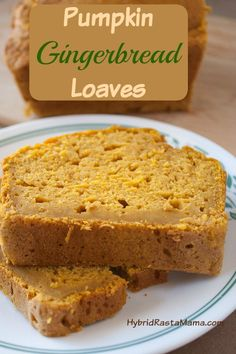 Pumpkin Gingerbread Loaves - A Delicious Holiday Treat from HybridRastaMama.com
