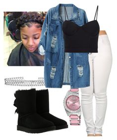 """""""It's only right if I'm with you"""" by myapaxton on Polyvore featuring DANNIJO, Akribos XXIV, UGG, Chicnova Fashion and Alexander Wang"""