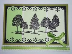 handmade card featuring a panel of paint chips in green . Lovely as a Tree stampone on top . Paint Chip Cards, Paint Sample Cards, Paint Samples, Paint Charts, Paint Swatches, Card Making Techniques, Card Sketches, Homemade Cards, Making Ideas