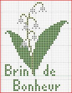 MUGUET1 lilies of the valley cross stitch chart