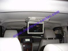 """Installazione monitor a cielo Digitaldynamic RMT110DVD con pannello da 11"""", lettore DVD, ESB ed SD Card sulla Gran Cherokee"""