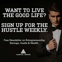 Each week we put together the best in hustle inspired content we bring you articles in growth marketing entrepreneurship and motivation. If you aren't getting this then you need to click the link in our bio and sign up now.