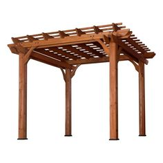 Turn your patio into a naturally shaded oasis by letting vines and roses grow across this pergola's arbors.
