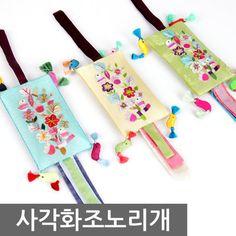 G마켓 - (사각화조노리개) 노리개 사각노리개 예단 선물포장