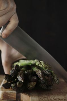 chopping asparagus | Will Cook For Friends