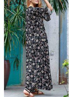 #AdoreWe #Zaful Zaful Allover Floral Print Maxi Dress - AdoreWe.com