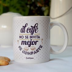 Taza para regalar Lets Do It, Silhouette Cameo, Cups, Baby Shower, Restaurant, Coffee, Tableware, Gifts, Calla Lilies