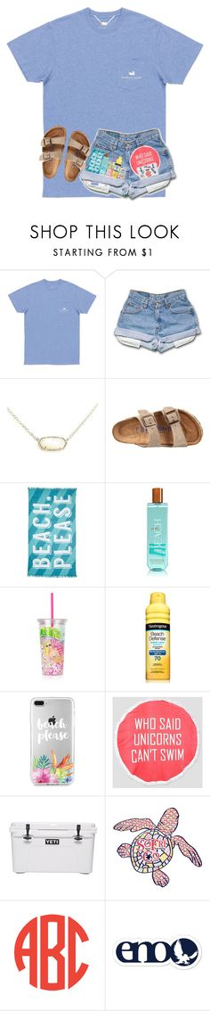 """beach tomorrow(:"" by arieannahicks on Polyvore featuring Kendra Scott, Birkenstock, Nordstrom Rack, Lilly Pulitzer, South Beach and Southern Proper"
