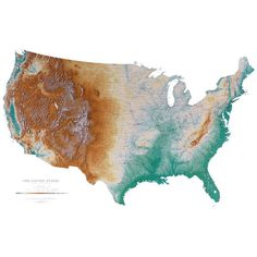 Youve Read National Geographic You Know The USA Has A Bunch Of - Contiguous us hillshade map