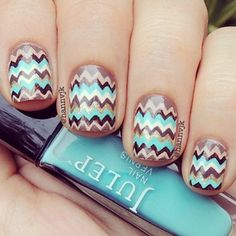 These have to be fake it is so hard to do chevron nails!
