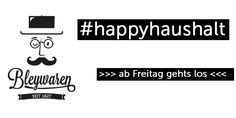 Am Freitag startet #happyhaushalt !!! Mehr dazu in Kürze hier!