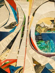 Worte verschieben - (c) Elisabeth Rütsche Collagen, Painting, Kunst, Painting Art, Paintings, Draw