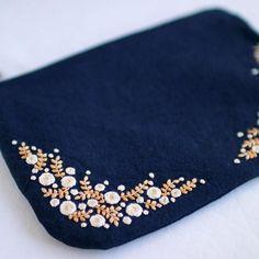* . Embroidery pouch . . #刺繍#手刺繍#ステッチ#手芸#embroidery#handembroidery#stitching#needlework#자수#broderie#bordado#вишивка#stickerei