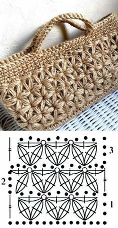 26 beautiful crochet bag designs and graphics - Bolsas crochê - . 26 beautiful crochet bag designs and graphics - Bolsas crochê - # crochê # Häkeltasche Always. Crochet Stitches Patterns, Crochet Motif, Crochet Baby, Knit Crochet, Crochet Designs, Knitting Patterns, Crochet Handbags, Crochet Purses, Baby Converse