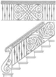 Stair Railing Design Drawings: Inspirations For You Balcony Or BannisterHand Built Railing, Custom Iron Railing, Balconies, Spirals, Handmade In America Since Wrought Iron Staircase, Iron Stair Railing, Staircase Railings, Staircase Design, Steel Railing Design, Iron Balcony, Steel Stairs, Metal Gates, Gate Design