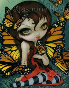 """Butterfly Fairies II: """"Monarch"""" by Jasmine Becket-Griffith (aka Strangeling)"""