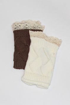 Short Leg Warmers with Lace - The Fair Lady Boutique - 1