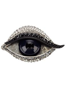 Eye brooch // Lanvin (a favourite repin of VIP Fashion Australia www.vipfashionaustralia.com - Specialising in unique fashion, exclusive fashion, online shopping sites for clothes, online shopping of clothes, international clothing store, international clothes shop, cute dresses for cheap, trendy clothing stores, luxury purses )